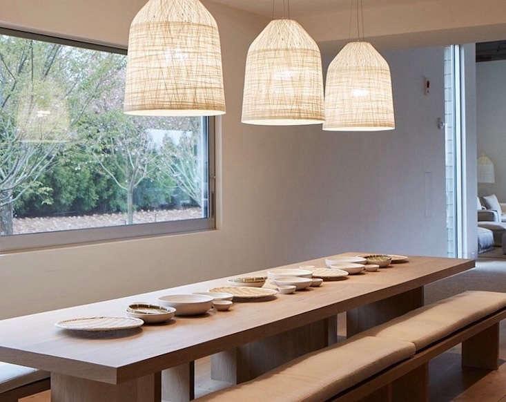 shou sugi ban dining room