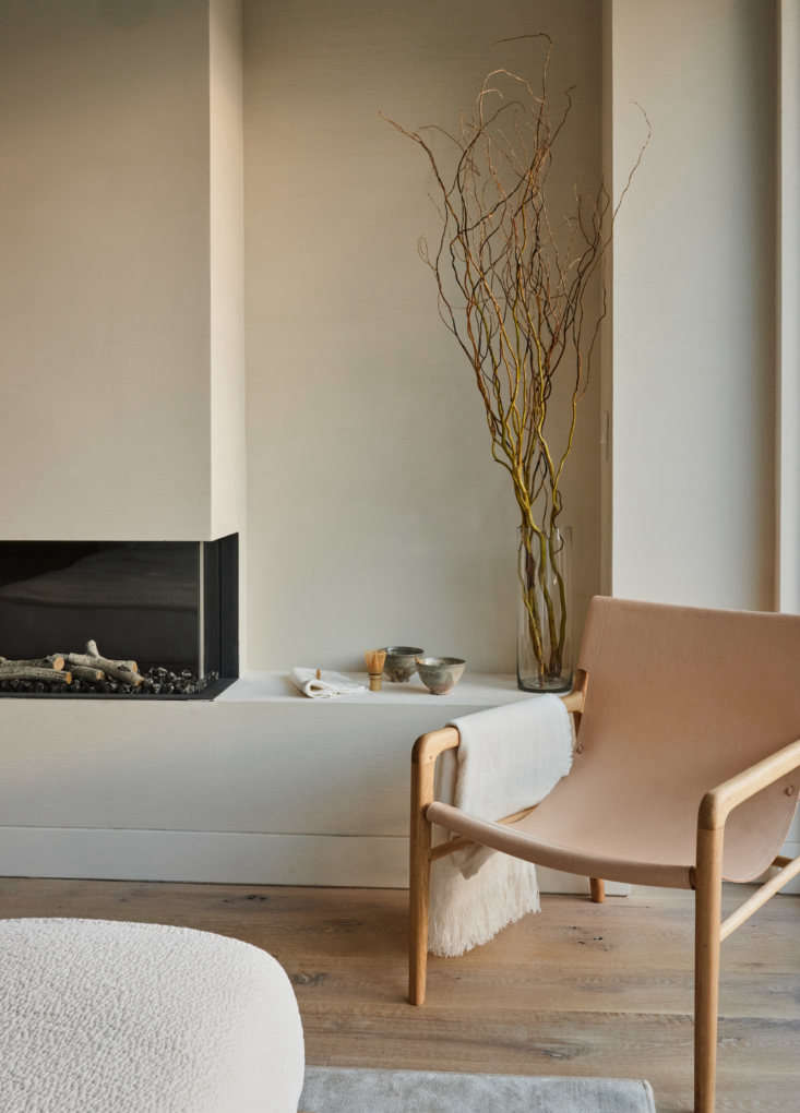 A quiet corner in the living area (for sourcing ideas, go to  Easy Pieces: The New Pale Leather Lounge Chair).