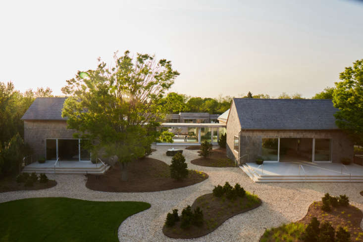 The compound was designed by architect Debbie Kropf, a longtime Hamptons resident.