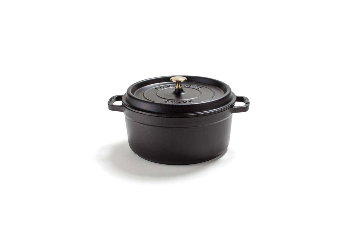 Like rival French brand Le Creuset, Staub has a long history of producing cast iron cooking pots in France. Staub, too, is coated with a glass enamel finish for a non- or less-stick surface that builds over time. Staub pans withstand high-temperature cooking and are naturally non-toxic and lead-free. Shown here is the Staub Cast Iron Black Round Cocotte, available in a range of sizes from $src=