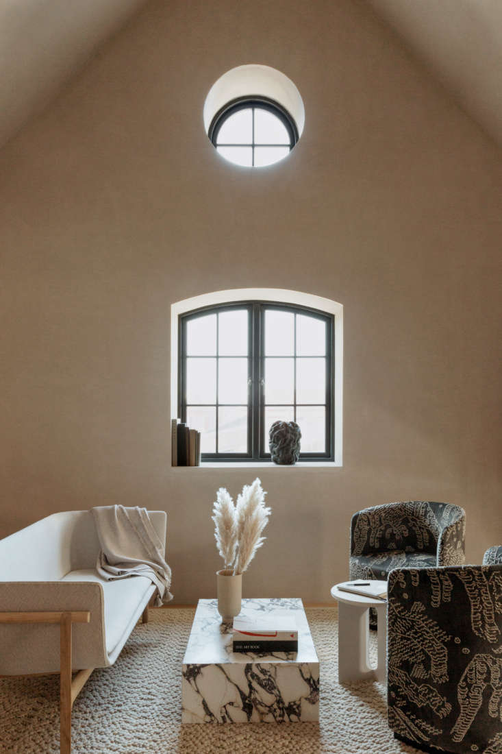 Copenhagen Clubhouse The Audo A New Creative Hub with Hotel Rooms Under the Rafters The top floor is devoted to the Audo&#8\2\17;s \10 guest suites, each different. The Penthouse shown here celebates Nordic light. Photograph by Mario Depicolzuane..