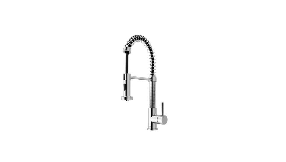 The Edison Pull-down Spray Kitchen Faucet is by Vigo.