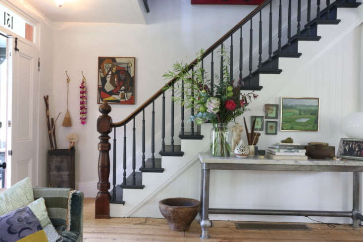 The front door opens to the original staircase: &#8