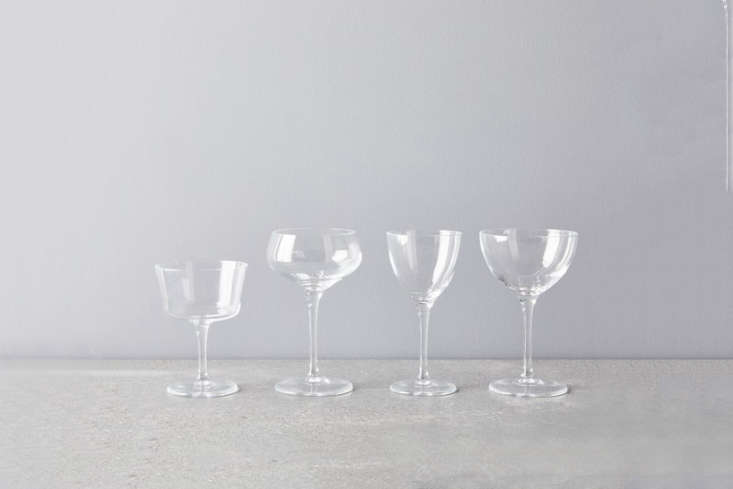 From classic Italian tableware company Bormioli Rocco,Vintage-Inspired Italian Cocktail Glasses come as a set of four coupe glasses, martini glasses, Nick and Nora glasses, or fizz glasses for $3