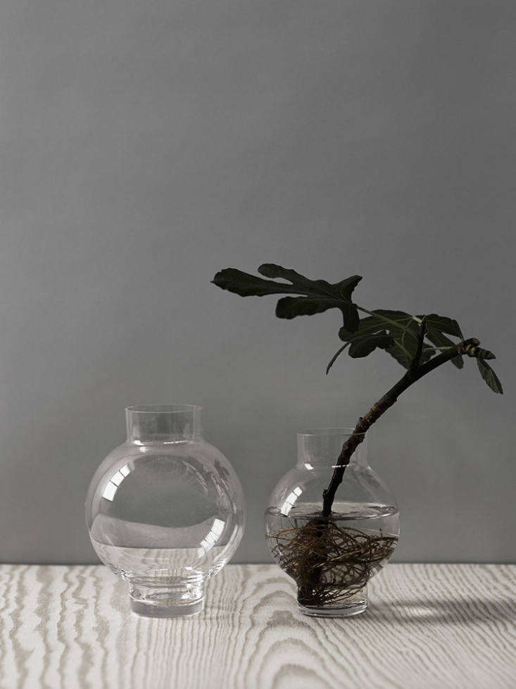Tokyo, a pair of vases/candle holders for Skruf, were inspired by Japanese lanterns.