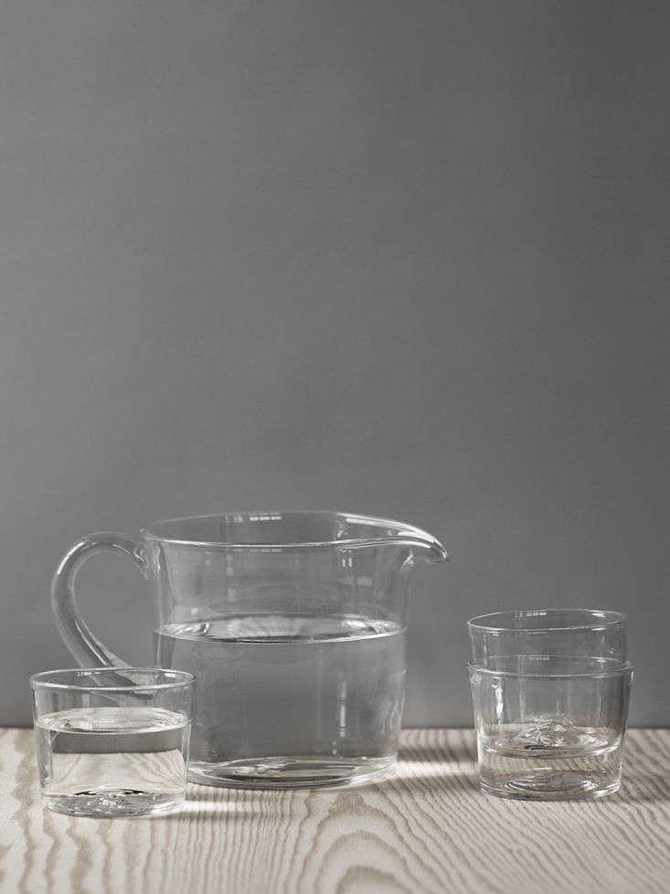 Carina designed theBalja series of simple robust jugs, wine, and water glasses for Skruf(available from Sweden Crystal).