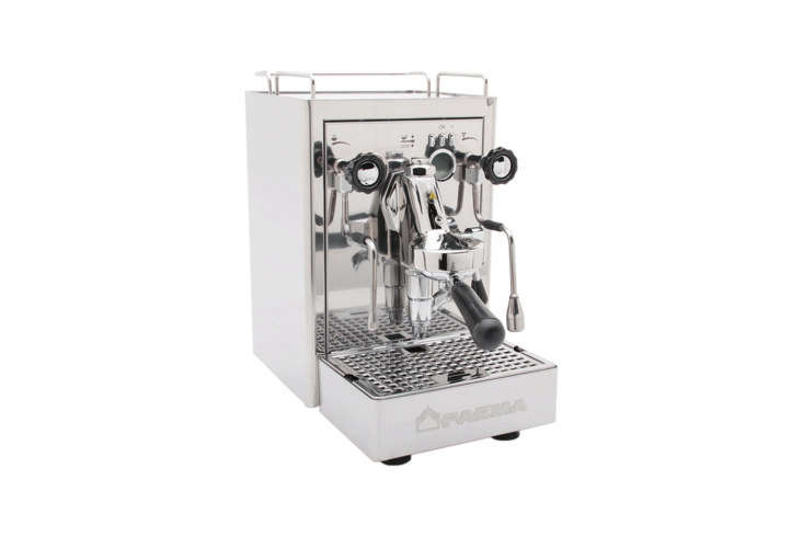 the faema carisma espresso machine has a copper boiler that has been finished i 16