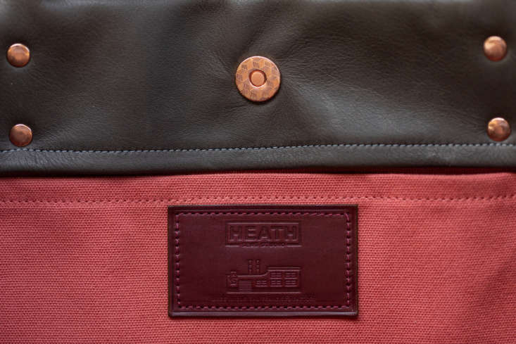 A detail of the Leather Tote&#8