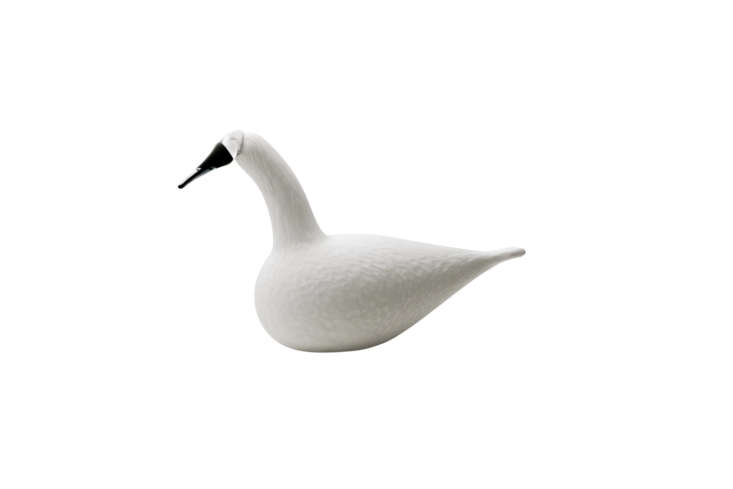 On the quirkier side of things, the Iittala Birds Toikka Whooper Swan is made of mouth-blown glass from Finnish designer Oiva Toikka; $595 at Tiina the Store.