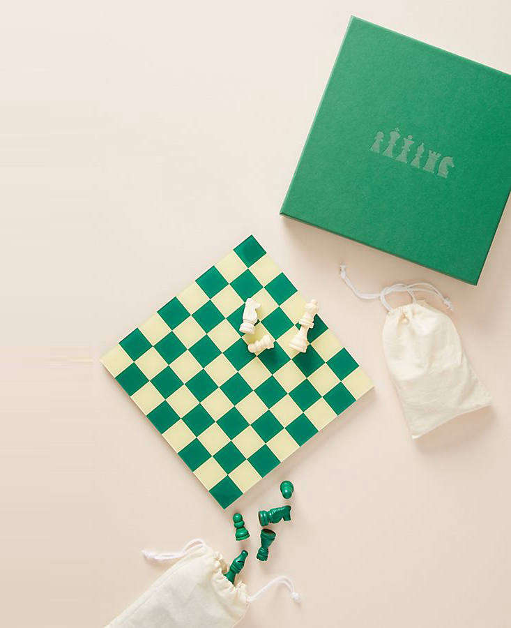 Another pick by Printworks (a new favorite): the charming green Chess Set, currently on sale for $3
