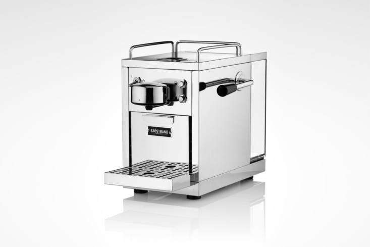 a scandi version of an automatic italian style espresso machine, the sjöstrand 13