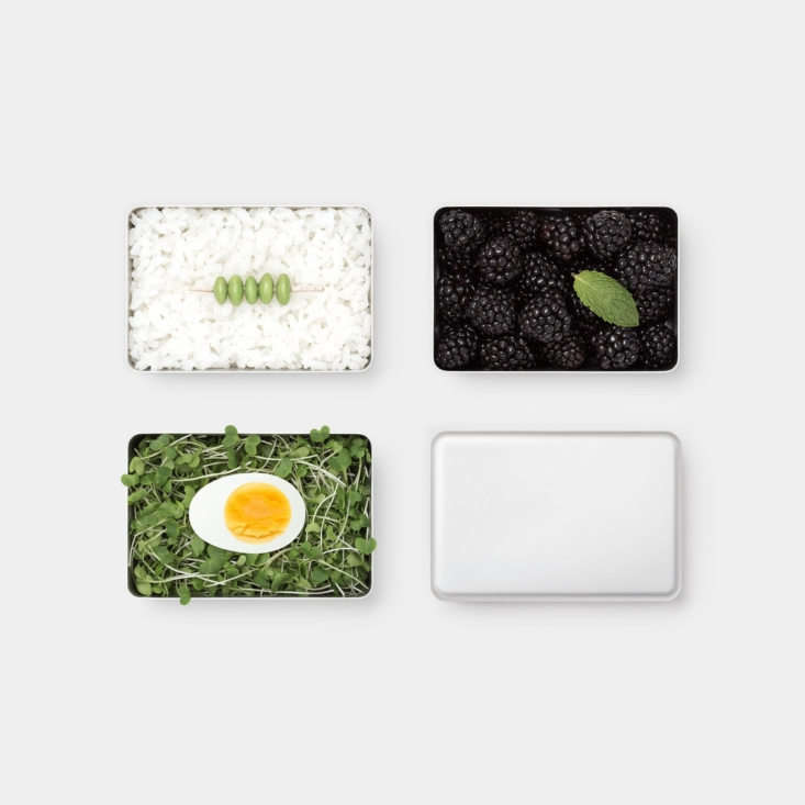 from japanese brand the, the lunch box of anodized aluminum—a mere 3.\15 inch 18