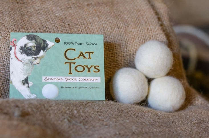 the sonoma wool company&#8\2\17;s cat toy, \$\1\1.95, is modeled after it 22