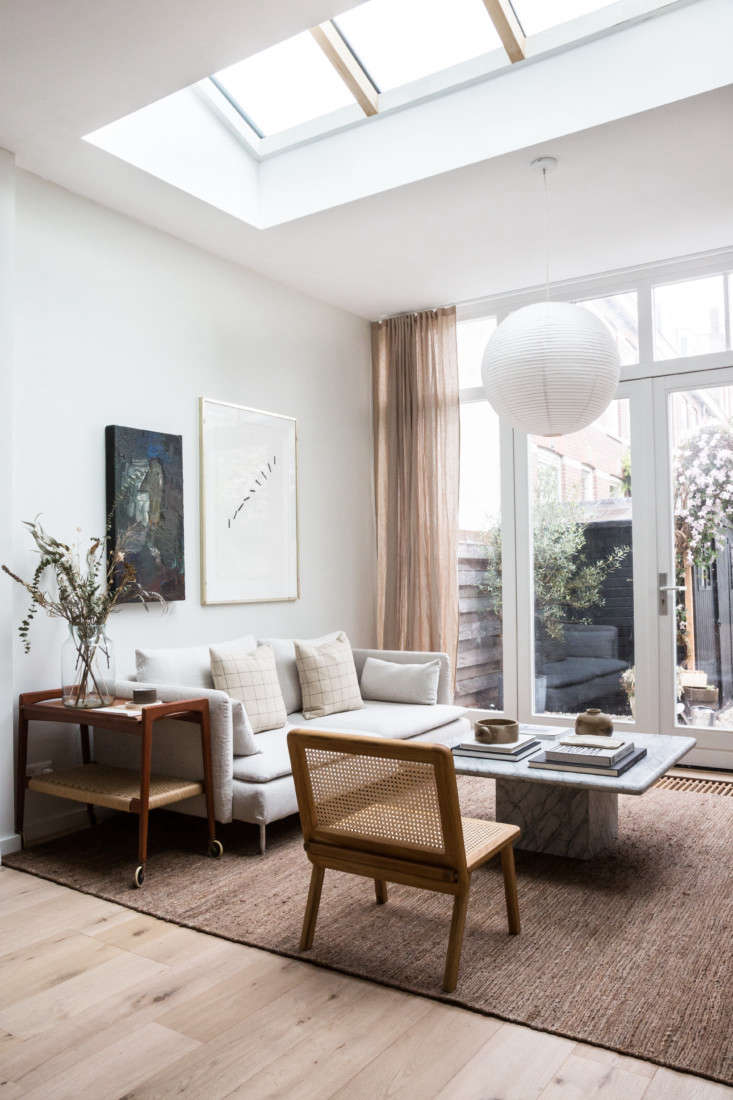 The living room is a high/low mix: Ikea&#8