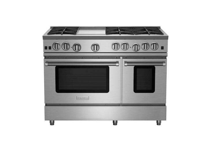 bluestar&#8\2\17;s free standing 48 inch gas range with griddle (rnb486gv\2 26