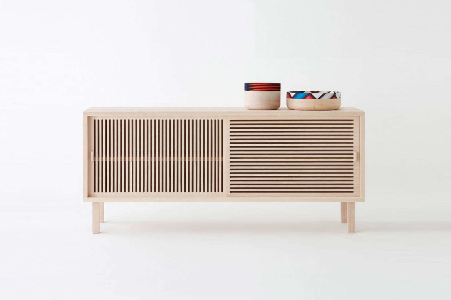 From French designers Isbelle Gilles and Yann Poncelet of Colonel, the Kyoto Large Sideboard in solid beech is €src=