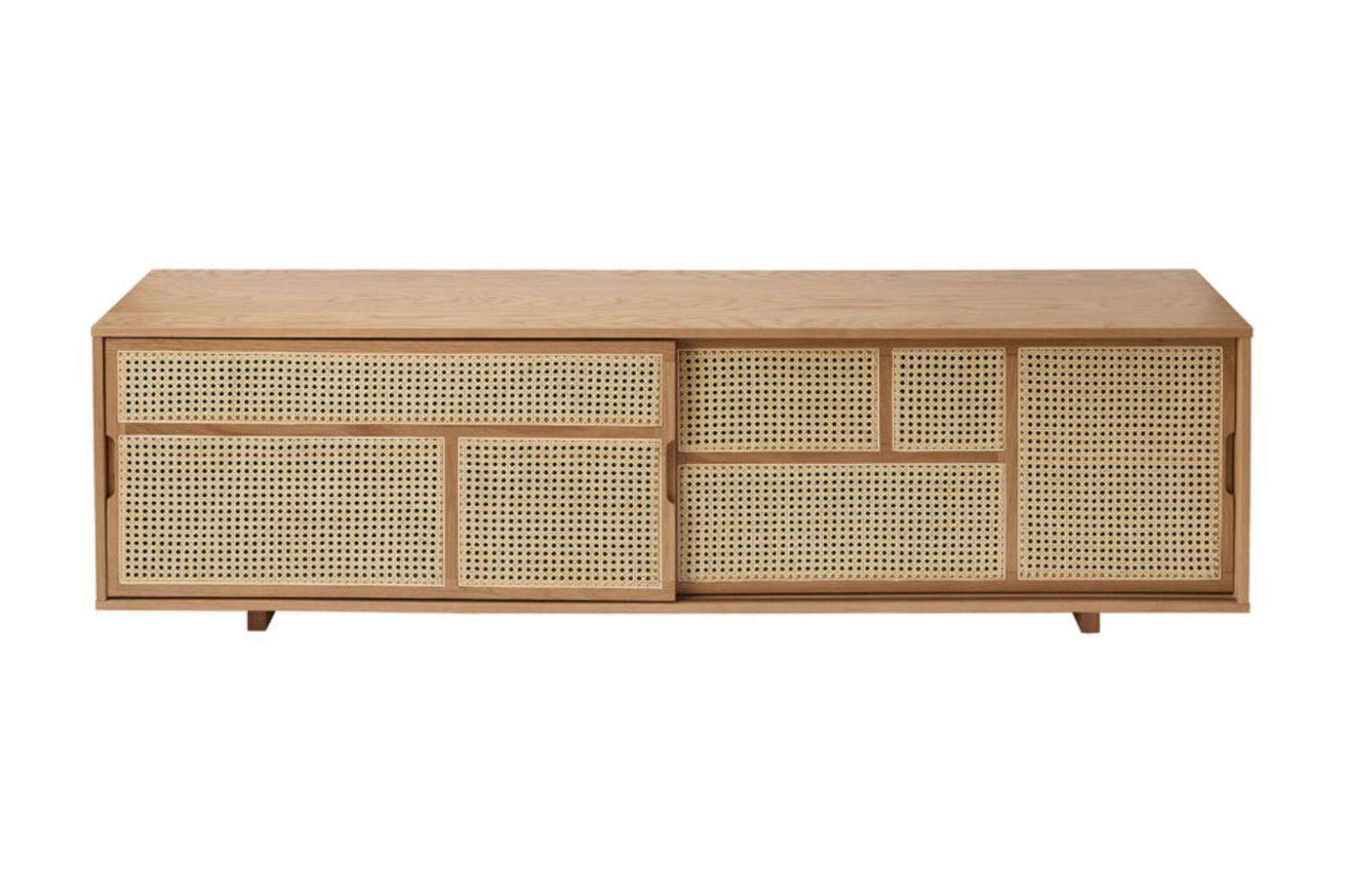 The Low Air Sideboard in Oak and Cane designed by Mathieu Gustafsson for Design House Stockholm is $src=