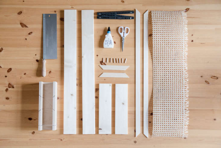 Remodelista Greatest Hits 2020 8 Economical DIY Rattan Projects The materials for Craftifair&#8\2\17;s magazine rack (shown above). For a range of pre woven cane webbing and advice on its uses, go to The Caning Shoppe of Cambridge, MA.