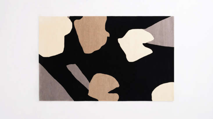 TheFloral Rugis the work of Danish designerNina Flagstad Kvorning and is inspired by tulips. Shown here in Black, it&#8