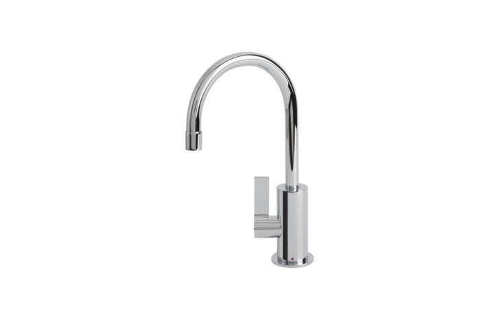 The Franke Ambient Hot Filter Faucet (LB0) comes in Polished Chrome, Satin Nickel, and Polished Nickel for $8.53 at Quality Bath.