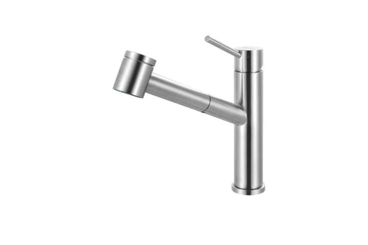 The Franke Steel Pull-Out Faucetcomes in stainless steel for $305.53 at Quality Bath.