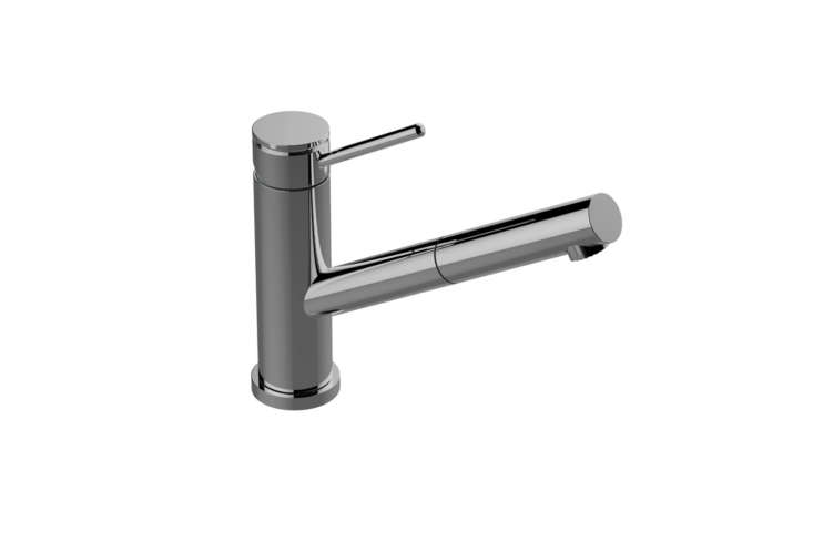 The Graff Pull-Out Kitchen Faucet M.E.  is available in seven finishes for $393 at Quality Bath.