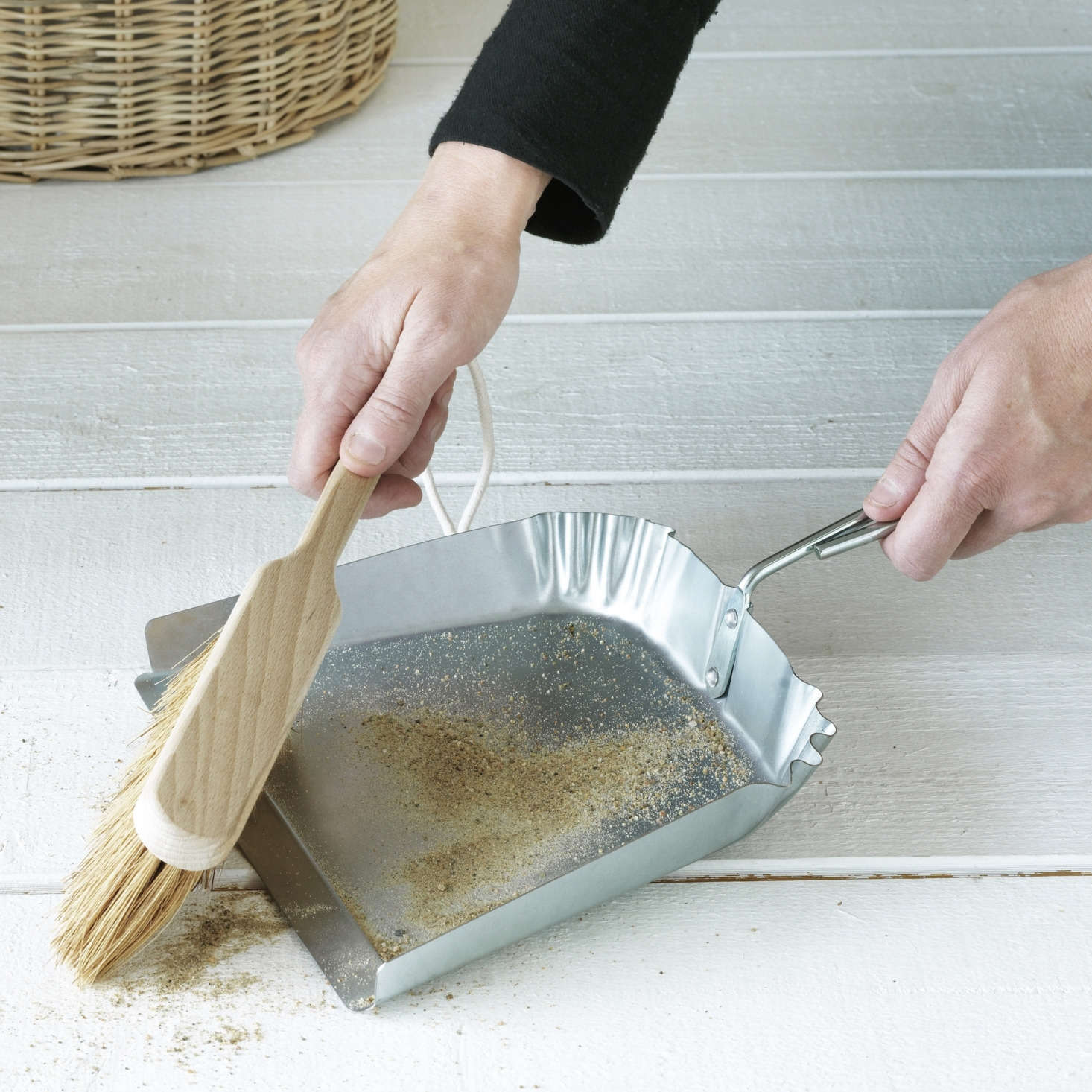 The galvanized stainless steel Dust Pan and Brush are sold together for $src=