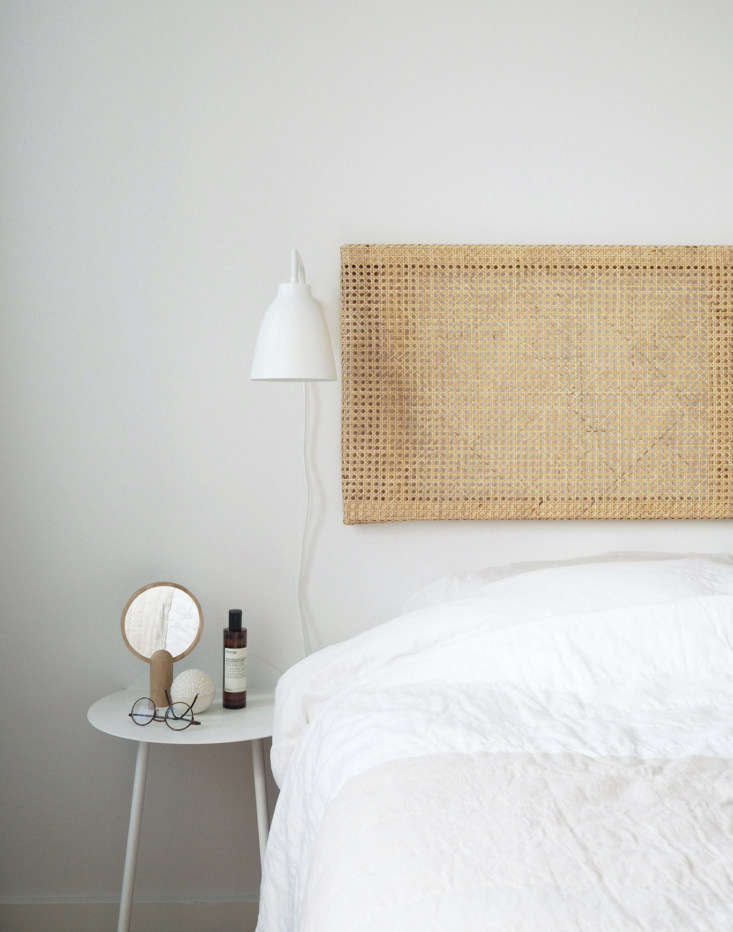 Remodelista Greatest Hits 2020 8 Economical DIY Rattan Projects Copenhagen based interior stylist and writer Caroline Bahrenscheer of the blog September Edit created this floatingRattan Headboard for her own bedroom.