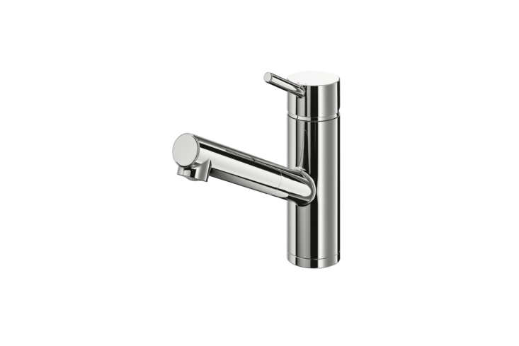 The IKEA Yttran Kitchen Faucet Pull-Out Spout Chrome Plated is $79.99.