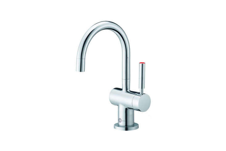 TheInSinkErator Indulge Modern Instant Hot Water Dispenserstreams water at a near-boiling temperature of 0°F.