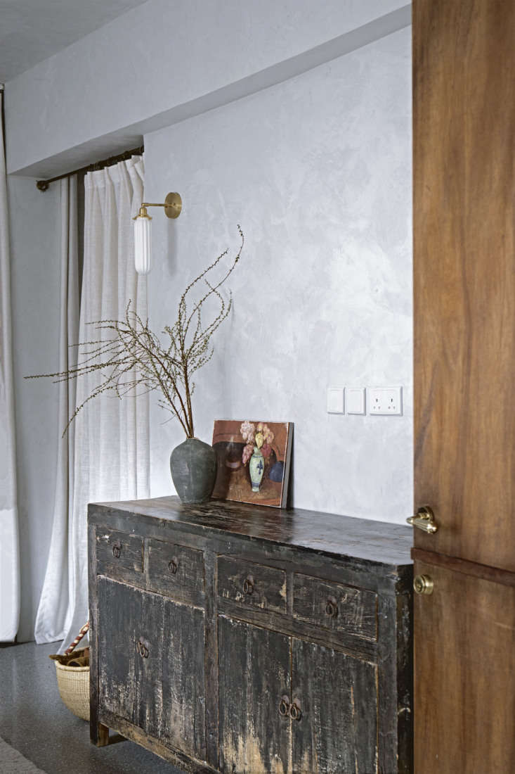 entering the master bedroom, where mandy&#8\2\17;s love for distressed wood 16