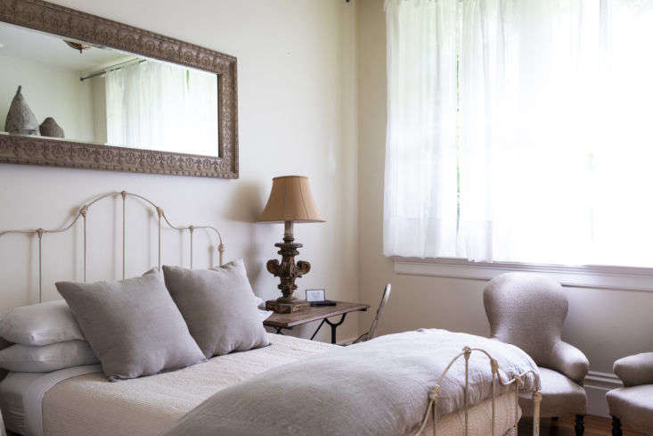 Every room is decorated with antiques sourced from vintage shops and flea markets.
