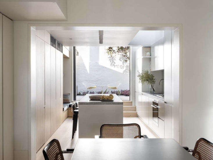 the view into the kitchen, in the home&#8\2\17;s addition, and beyond. a wa 14