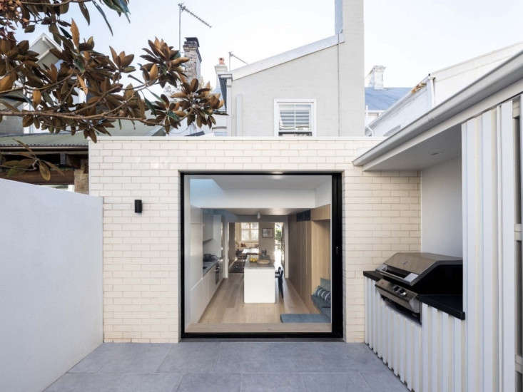previously, the patio could be accessed only via a side door. now, the sliding  21