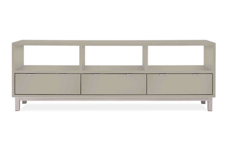 The Copenhagen Media Cabinet comes in  different finishes and a stainless or natural steel base for $loading=