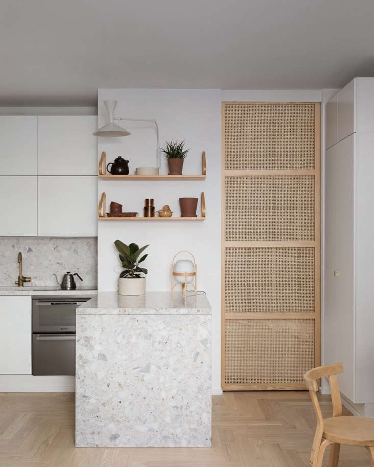 Remodelista Greatest Hits 2020 8 Economical DIY Rattan Projects In another Blau Interiors project, a 3\2\2 square foot apartment in Helsinki, Minna Jones designed a rattan and ash sliding door to separate the bedroom from the kitchen. Photograph by Mikael Pettersson.