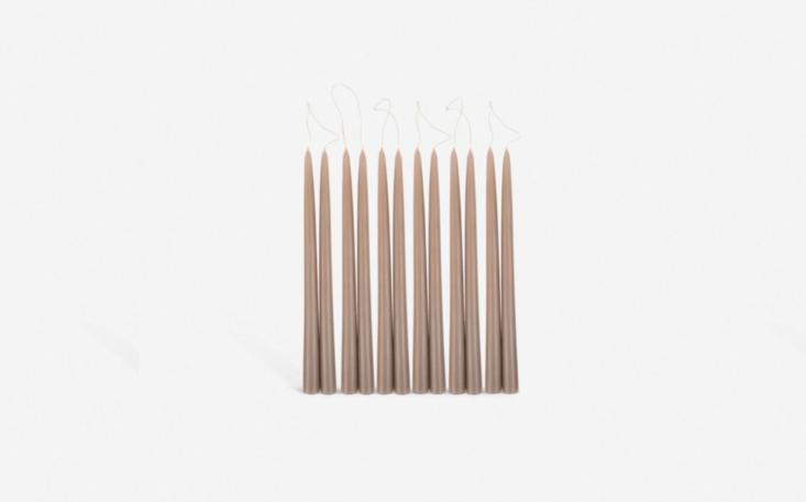 twelve inch taper candles from lulu & georgia, \$59 for a dozen, look muc 16
