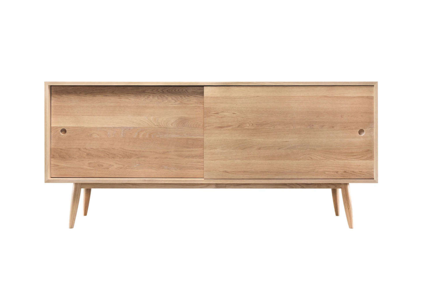 The WeWood Oak Sideboard comes in oak or walnut for $5,080 at Horne.