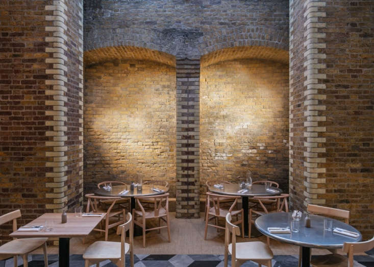 exposed brick can look dated when too bright; luckily, the original brick walls 12