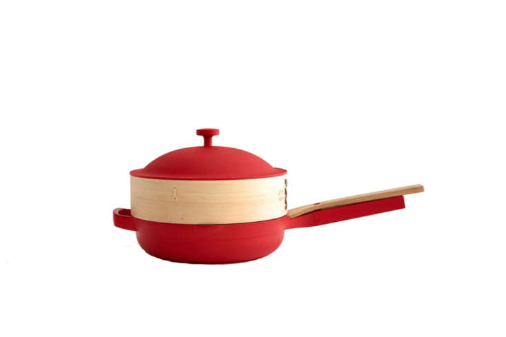 The ,000 Abilities Always Pan is a limited edition Lunar New Year 6-piece nesting wooden steamer and pan for $5 at Our Place.