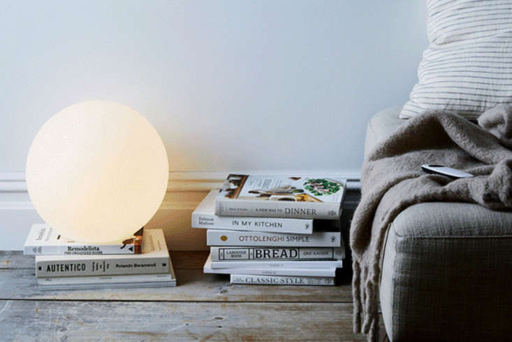 the allsop luna lamp is an led with a remote control (it actually changes color 9