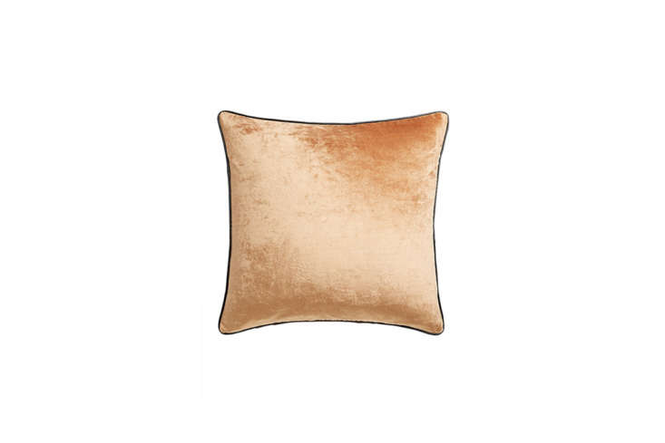 cb\2&#8\2\17;s crushed velvet pillow, shown here in copper, comes also in n 14