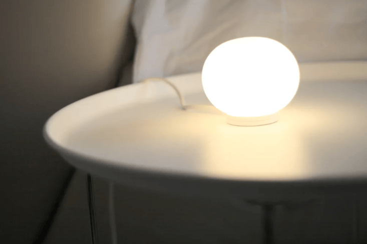 the flos glo ball mini t table lamp is a classic opal diffused glow lamp design 14