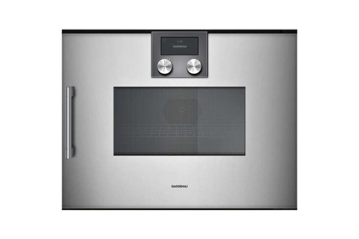 the gaggenau \200 series \24 inch speed oven features a touch display, rapid he 13