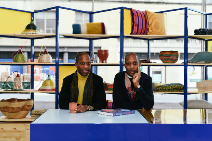 """Byron and Dexter at the Goodee Whitney shop. """"Byron and I have been huge fans and members of the Whitney for years, and while we live in Montreal, it has always been a cultural inspiration for us,&#8"""