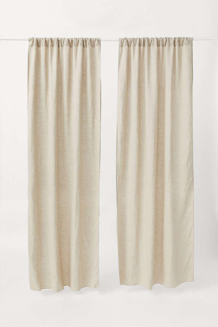 h m linen curtain panels