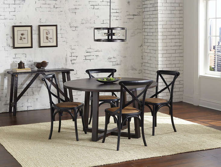 Another case of pendant pairing well with dining table: The Athenae Four-Light Exposed Ceiling Light ($loading=