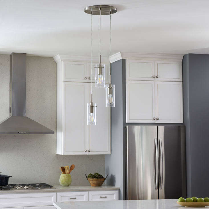 Linea's Effimero Three-Light Cluster Pendant Light ($99.99) adds a delicate touch to the kitchen. It's shown here in brushed nickel, but it's also available in polished chrome and black.
