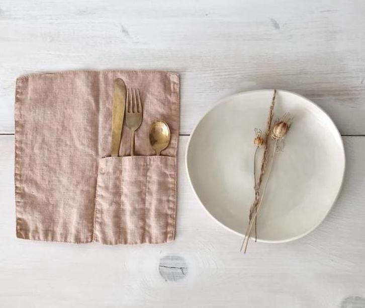 linen cutlery pocket kathryn davey crop