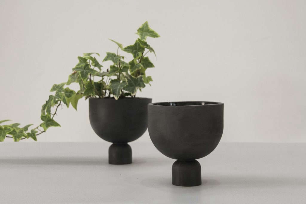 The Mia Modern Ceramic Planter by One and Many is $85.